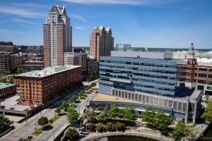 GTECH headquarters building. (lauralanden.com)
