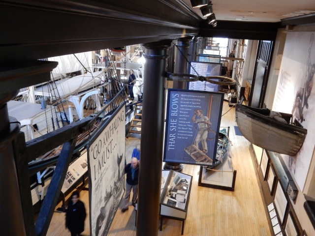The Lagoda model is housed in the classical hall of the Whaling Museum's Bourne Building, in New Bedford. (Photos by David Brussat)