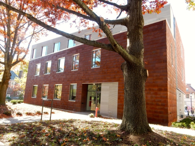 Applied Math Building recently completed at Brown. (Photo by David Brussat)