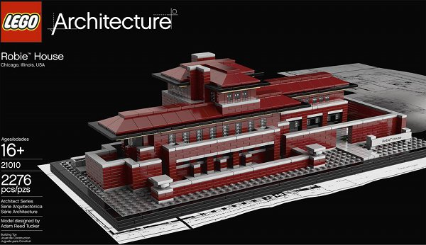 Lego set of Frank Lloyd Wright's Robie House. (thecoolist.com)