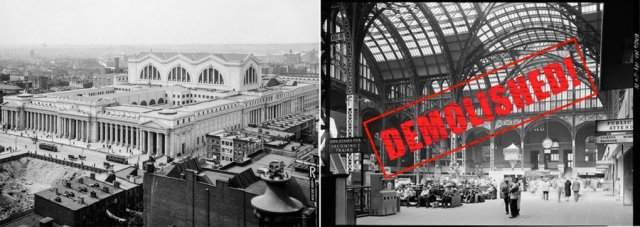 NYC and U.S. laws inspired by demolition of Penn Station turning 50. (Places)
