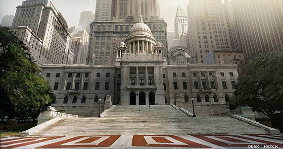 Rhode Island State House (as Providence City Hall) with non-Providence buildings photoshopped in. (howcoolisit.com)