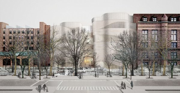 Proposed rear addition to Museum of Natural History. (NYT)