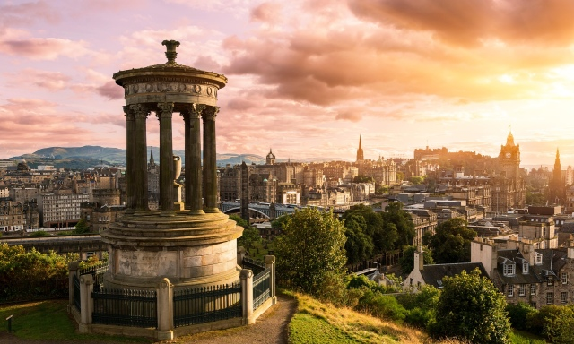 Edinburgh skyline from Canton Hill. (Almy/Guardian)