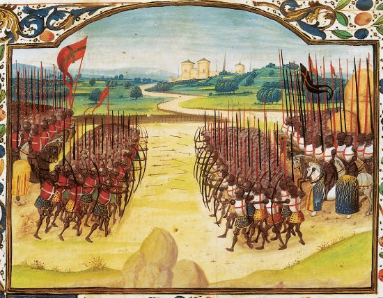 Tapestry of the Battle of Agincourt, Nov. 4, 1415. (herodote.net)