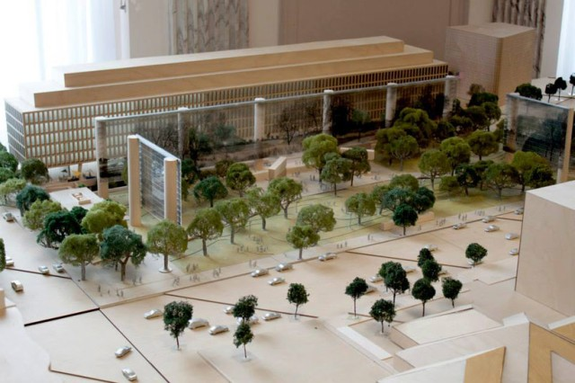 Frank Gehry's proposed Eisenhower memorial. (architizer.com)