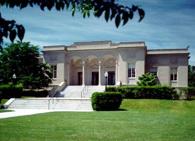 William Henry Hall Free Library, on Broad Street, Cranston. (oslri.com)