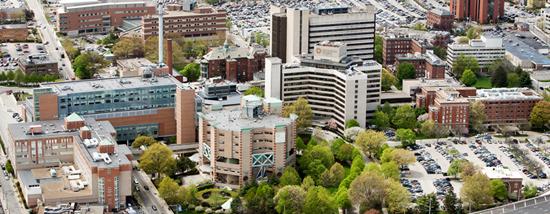 Rhode Island's main hospital complex, including RIH, in Providence. (rhodeislandhospital.com)