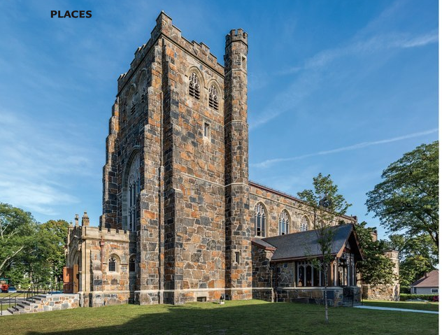 Interior of Ralph Adams Cram's All Saints Church in Dorchester, Mass. (Design New England/Peter Vanderwarker)