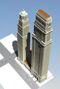 Towers proposed for Los Angeles in 2006 by Richardson Robertson. (Robertson Partners)