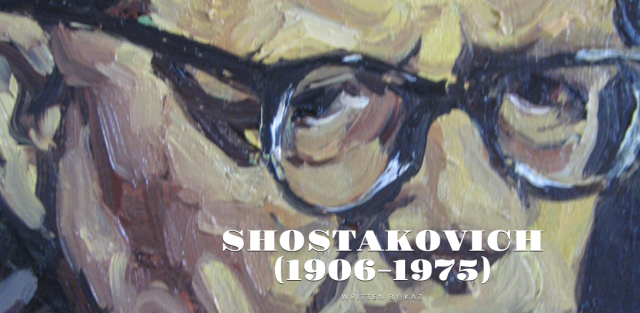 Screen shot from Kaz's blog of Dmitri Shostakovich.