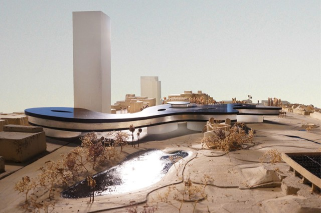 Zumthor proposal for Los Angeles County Museum of Art. (Atelier Peter Zumthor & Partner)